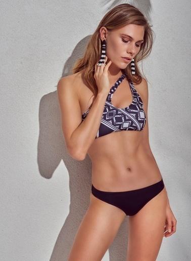 Morhipo Beach Tek Omuz Bikini Takımı Siyah